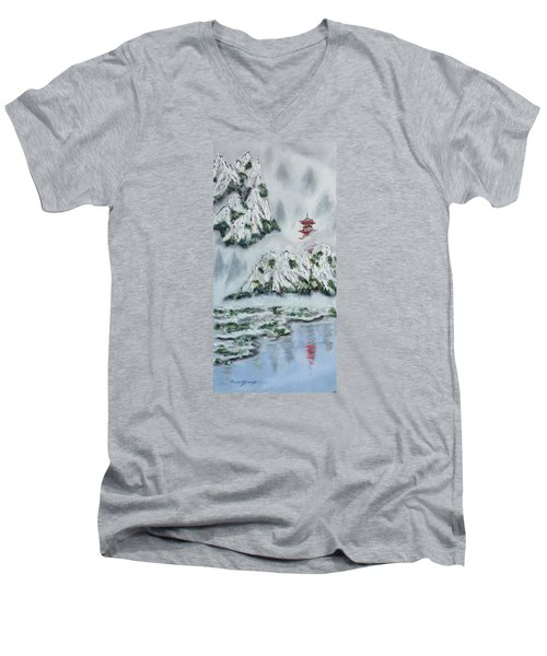 Morning Mist 1 Men's V-Neck T-Shirt