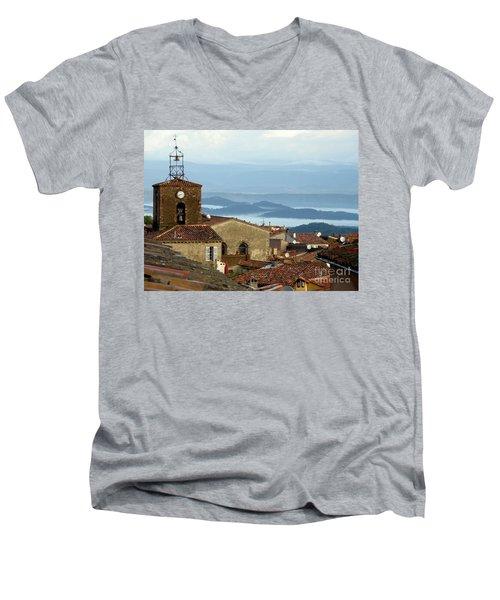 Morning Mist In Provence Men's V-Neck T-Shirt by Lainie Wrightson