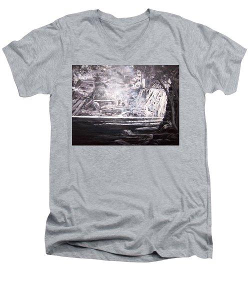 Morning Mist -theresa Falls Men's V-Neck T-Shirt