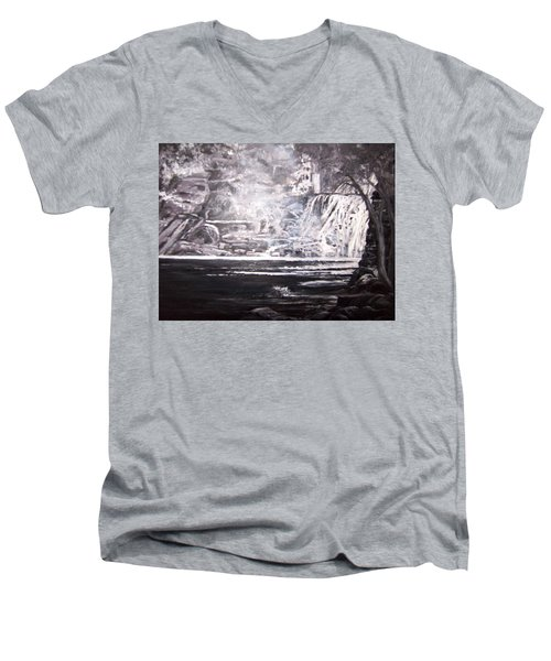 Morning Mist -theresa Falls Men's V-Neck T-Shirt