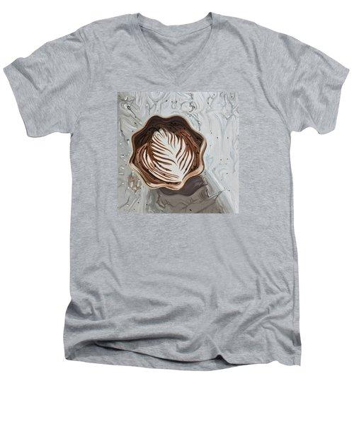 Morning Mocha Men's V-Neck T-Shirt by Nathan Rhoads