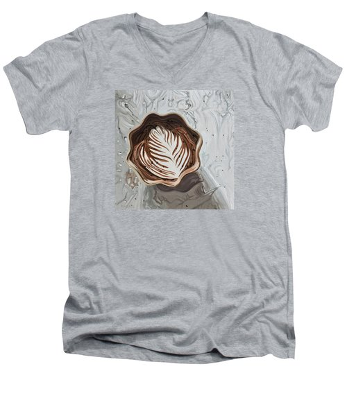 Morning Mocha Men's V-Neck T-Shirt