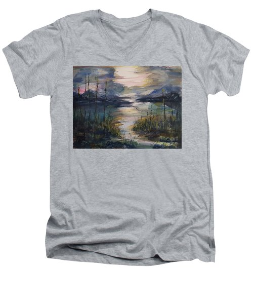 Morning Mountain Cove Men's V-Neck T-Shirt