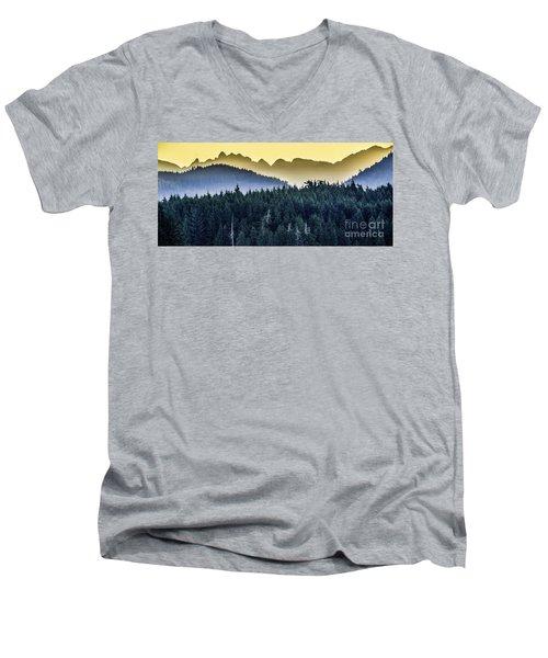 Morning Mountains Men's V-Neck T-Shirt