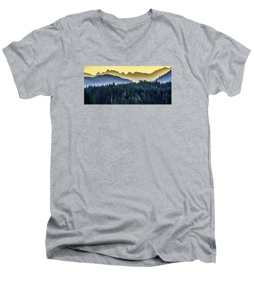 Morning Mountains Men's V-Neck T-Shirt