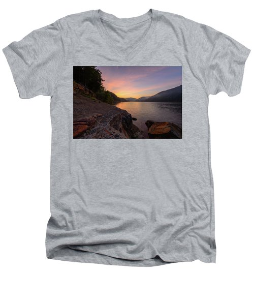 Morning On The Bay Men's V-Neck T-Shirt