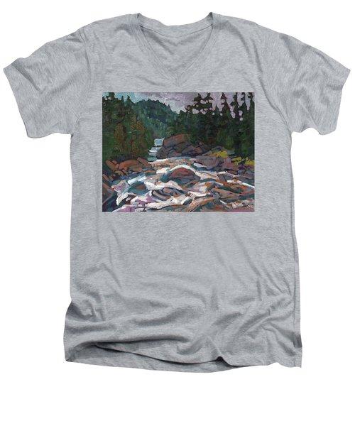 Morning On The Grande Chute Men's V-Neck T-Shirt