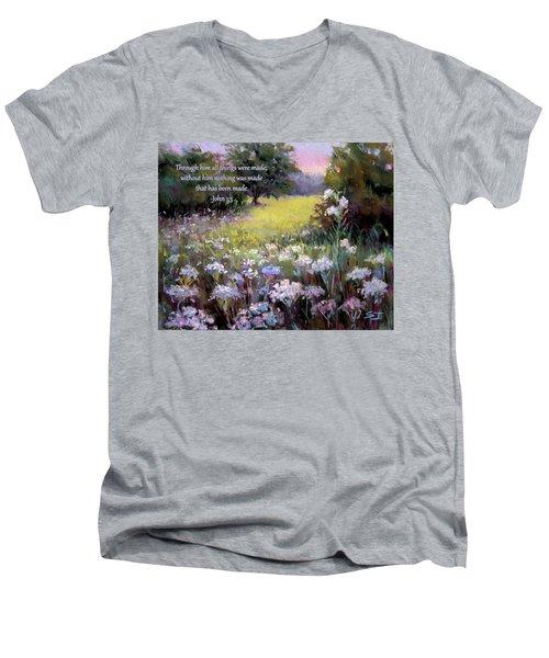 Morning Praises With Bible Verse Men's V-Neck T-Shirt