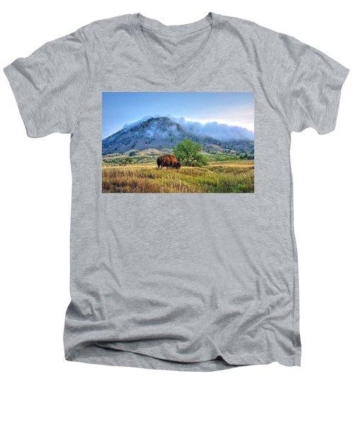 Morning Shift Men's V-Neck T-Shirt by Fiskr Larsen