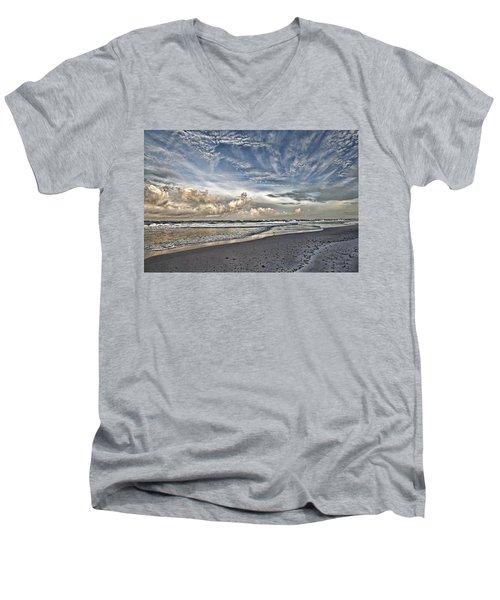 Morning Sky At The Beach Men's V-Neck T-Shirt