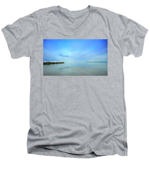 Morning Sky Reflections Men's V-Neck T-Shirt