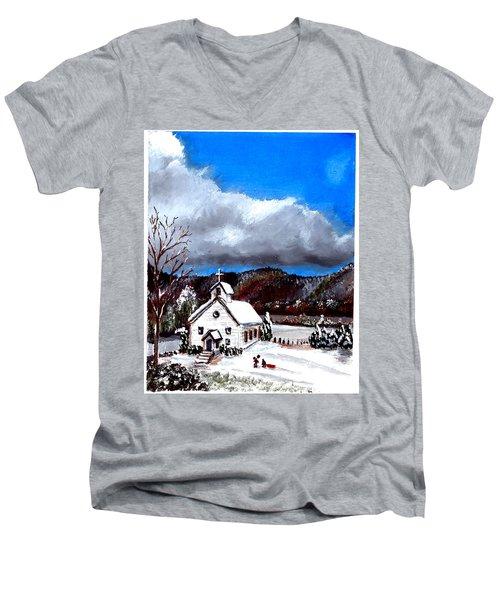 Morning Snow Ministry Men's V-Neck T-Shirt