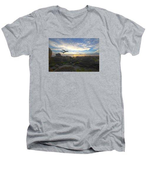 Morning Song Men's V-Neck T-Shirt by Robert Och