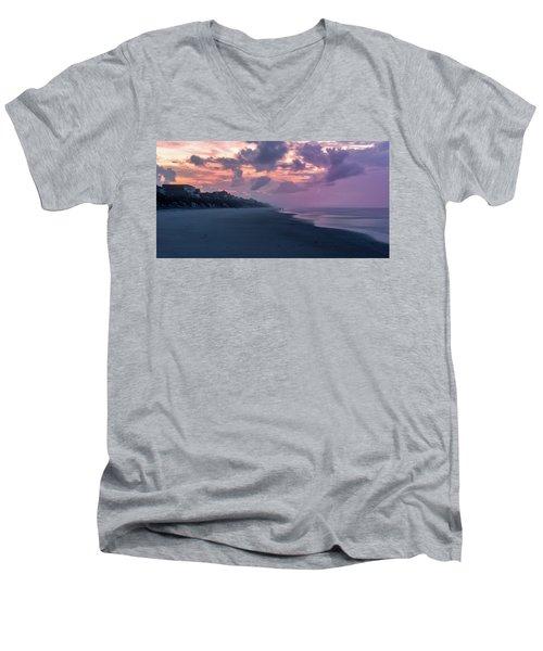 Morning Stroll On The Beach Men's V-Neck T-Shirt