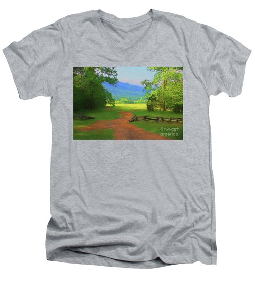 Morning View Men's V-Neck T-Shirt