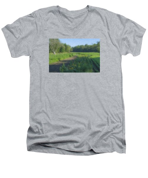 Morning Walk At Langwater Farm Men's V-Neck T-Shirt