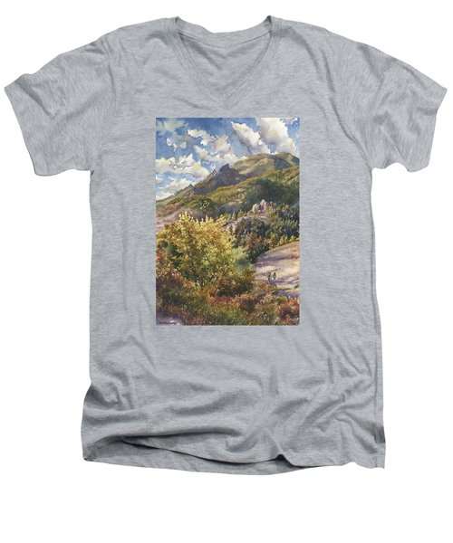Morning Walk At Mount Sanitas Men's V-Neck T-Shirt