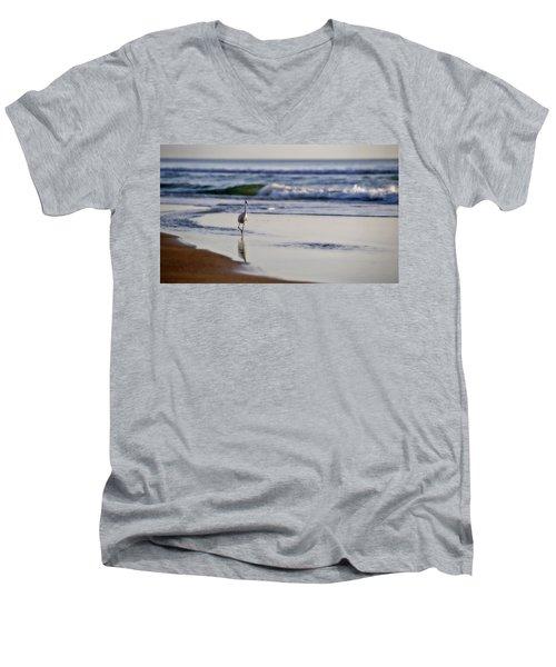 Morning Walk At Ormond Beach Men's V-Neck T-Shirt