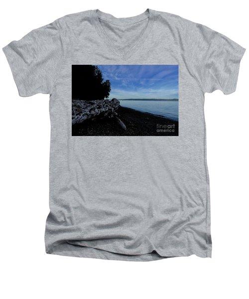 Morning Walk Seahurst Park. Men's V-Neck T-Shirt