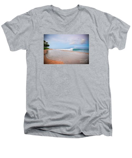 Morning Wave Men's V-Neck T-Shirt by Kelly Wade