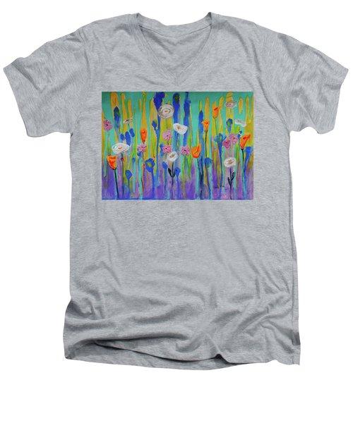 Morning Wildflowers Men's V-Neck T-Shirt