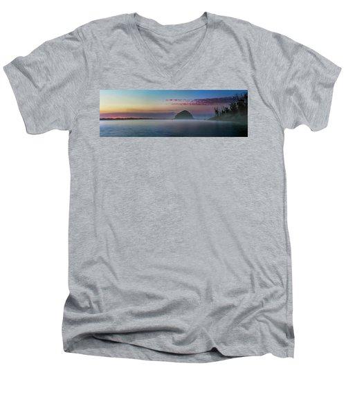 Moro Bay Calm  Pano Men's V-Neck T-Shirt