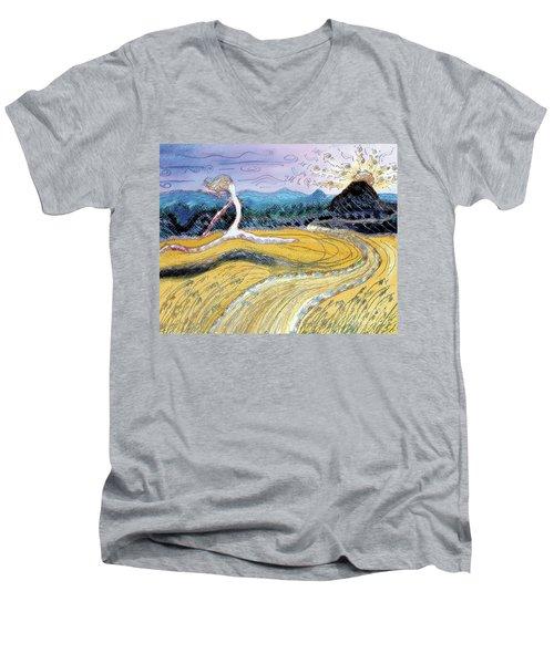 Morro Run Bliss Men's V-Neck T-Shirt