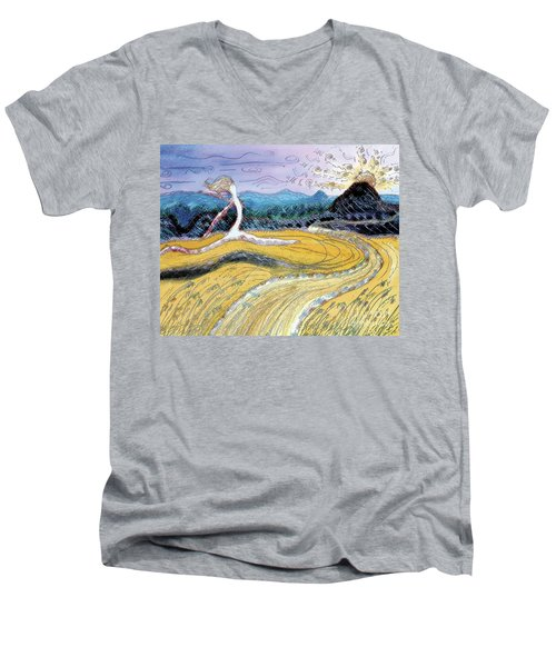 Morro Run Bliss Men's V-Neck T-Shirt
