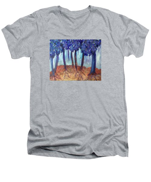 Mosaic Daydreams Men's V-Neck T-Shirt by Elizabeth Fontaine-Barr