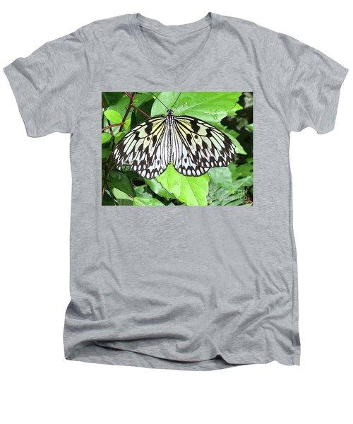 Mosaic Wing Spread Men's V-Neck T-Shirt