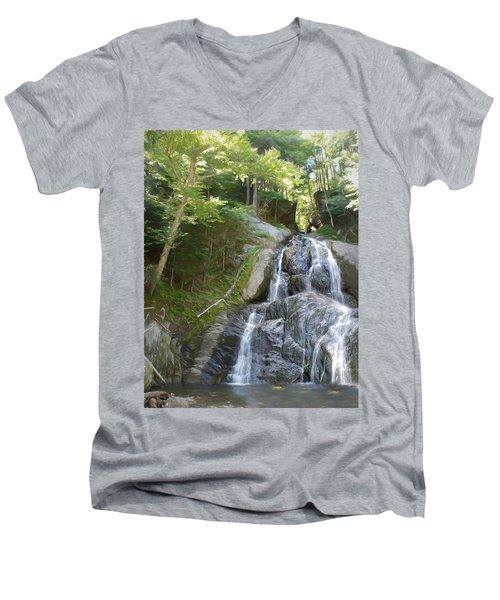 Mose Glenn Falls Granville Vt. Men's V-Neck T-Shirt