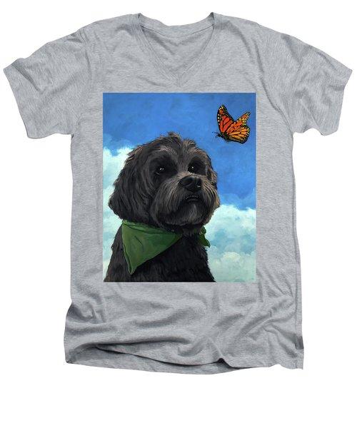 Moses - Pet Portrait Men's V-Neck T-Shirt