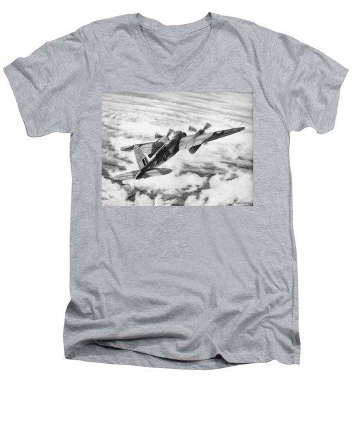 Mosquito Fighter Bomber Men's V-Neck T-Shirt