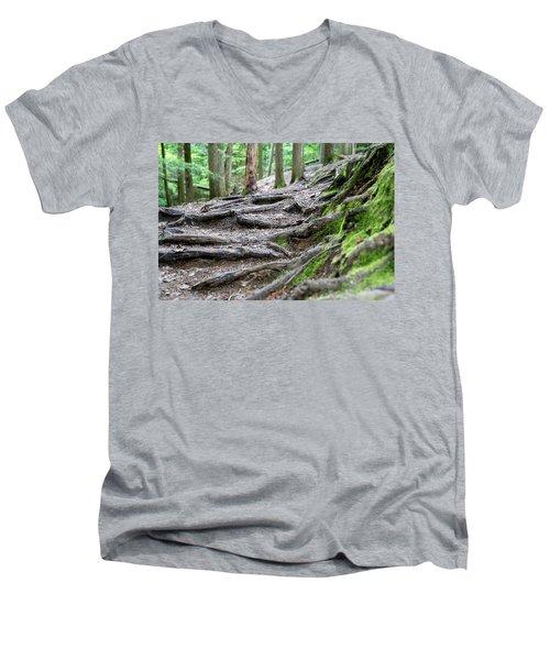 Moss Glen Falls - Vermont Men's V-Neck T-Shirt