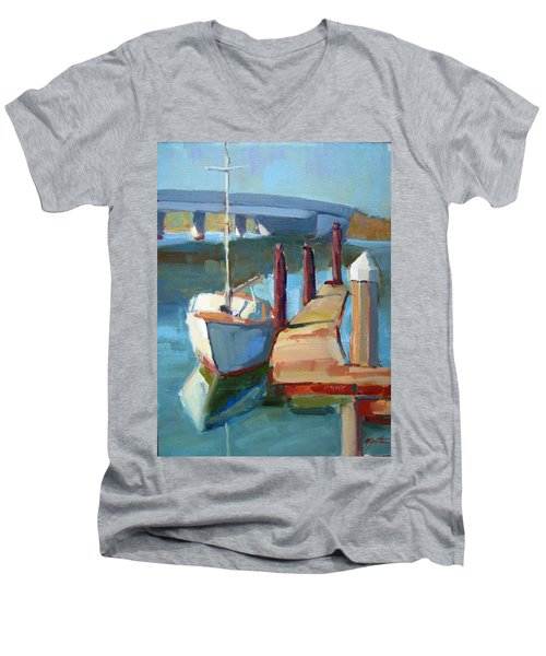 Moss Landing Morning Men's V-Neck T-Shirt