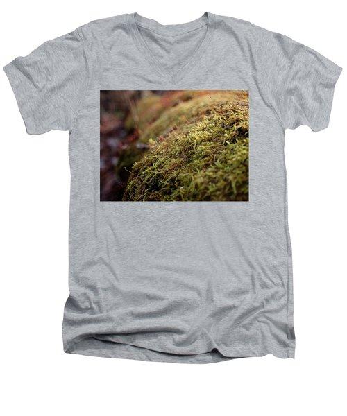 Mossy Men's V-Neck T-Shirt