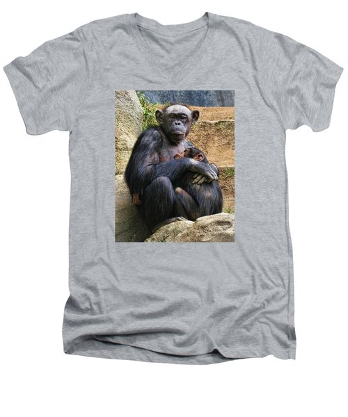 Mother And Child Men's V-Neck T-Shirt