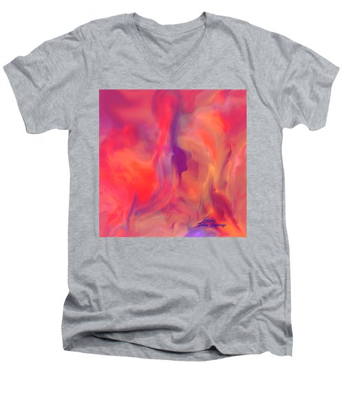 Mother And Daughter Abstract Men's V-Neck T-Shirt