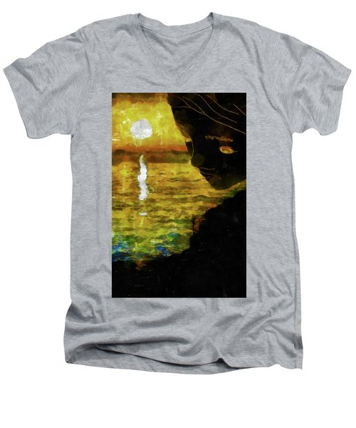 Men's V-Neck T-Shirt featuring the photograph Mother Earth Watching by Joseph Hollingsworth