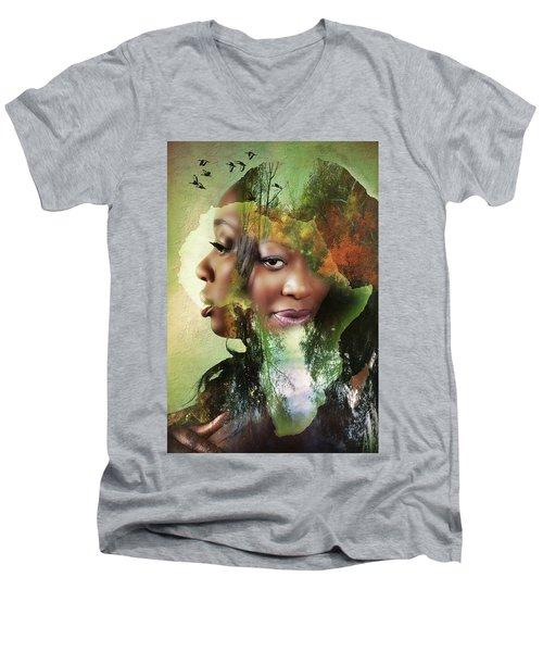 Mother Nature Men's V-Neck T-Shirt