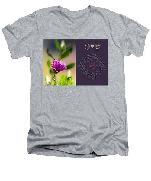 Mother's Day Flower Men's V-Neck T-Shirt