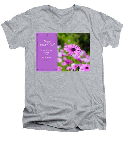 Mother's Day Love Men's V-Neck T-Shirt