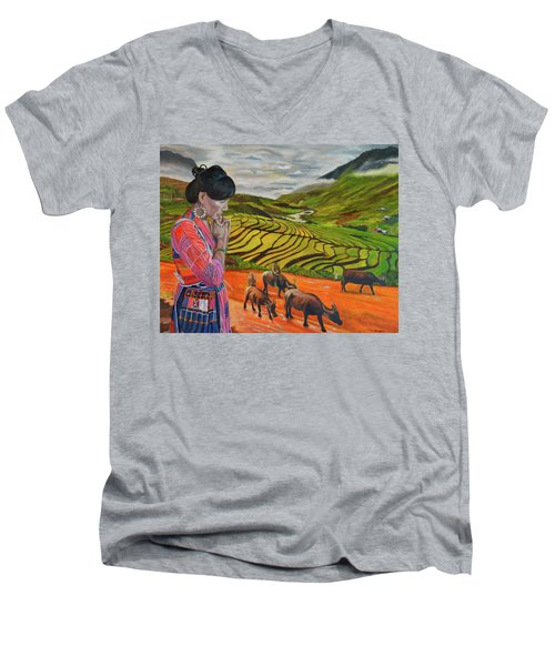 Mother's Land Men's V-Neck T-Shirt
