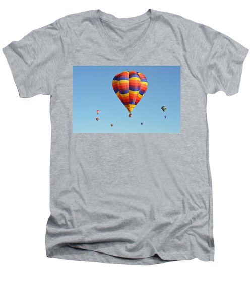 Men's V-Neck T-Shirt featuring the photograph Mothership by AJ Schibig