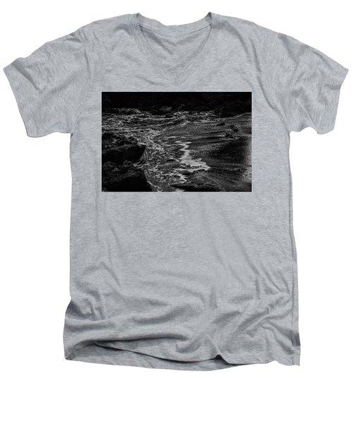 Motion In Black And White Men's V-Neck T-Shirt
