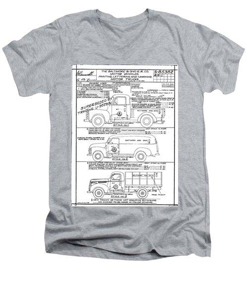 Motor Vehicles Men's V-Neck T-Shirt