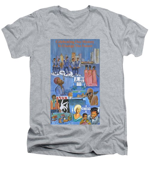 Motown Commemorative 50th Anniversary Men's V-Neck T-Shirt
