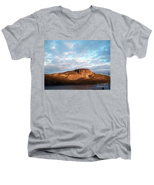 Mottled Sky Of Late Spring Men's V-Neck T-Shirt by Barbara Griffin