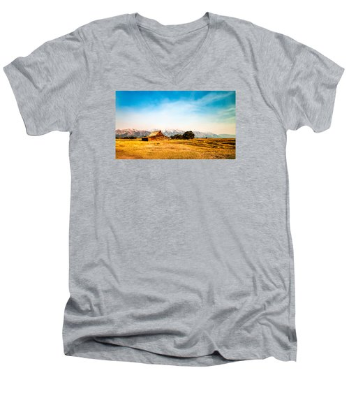Moulton Barn Men's V-Neck T-Shirt