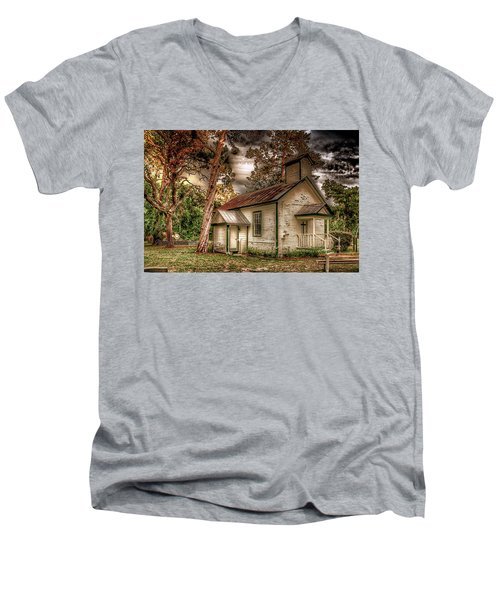 Moultrie Church At Dusk Men's V-Neck T-Shirt